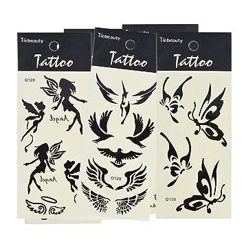 Tatuajes temporales, Conjunto de 6 Body Art Tattoo Pegatinas para adultos Adyacente impermeable temporales Tatting: Amazon.es: Instrumentos musicales