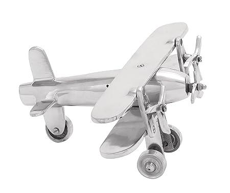 Deco 79 Aluminum Plane 11 by 5-Inch