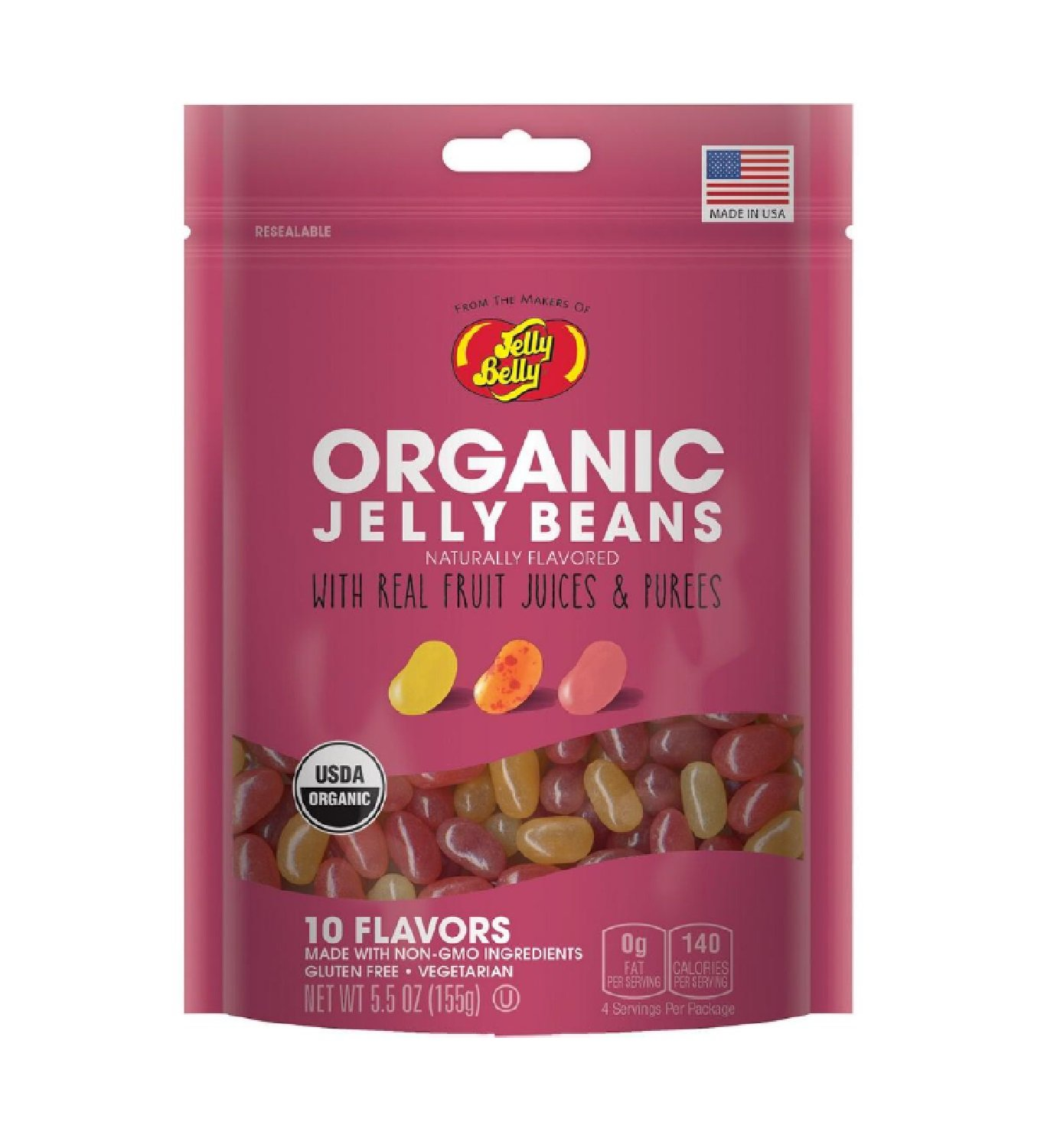 Jelly Belly Organic Jelly Bean Assorted 5.5oz (6 Pack) by Jelly Belly