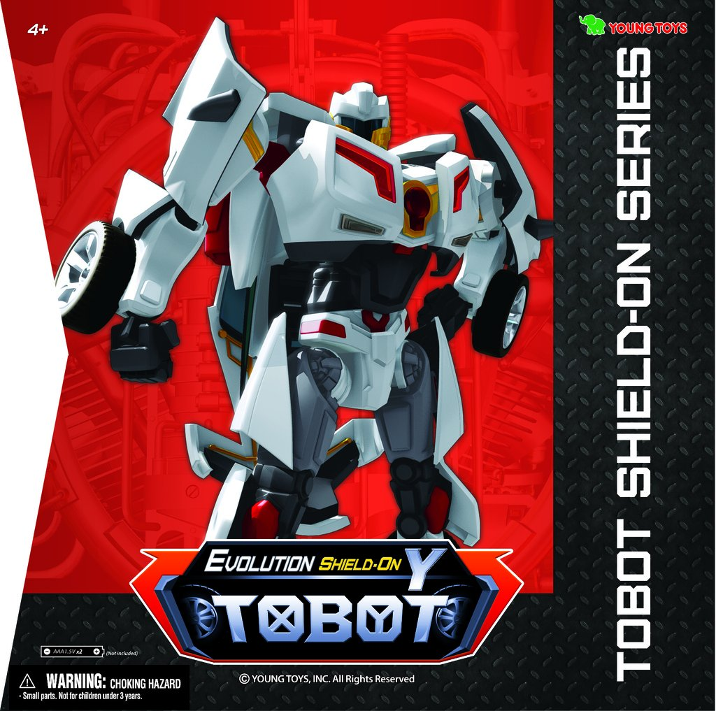 Tobot Youngtoys Evolution Y Shield-On Car Transforming Robot Car to Robot Animation Character by Tobot (Image #2)
