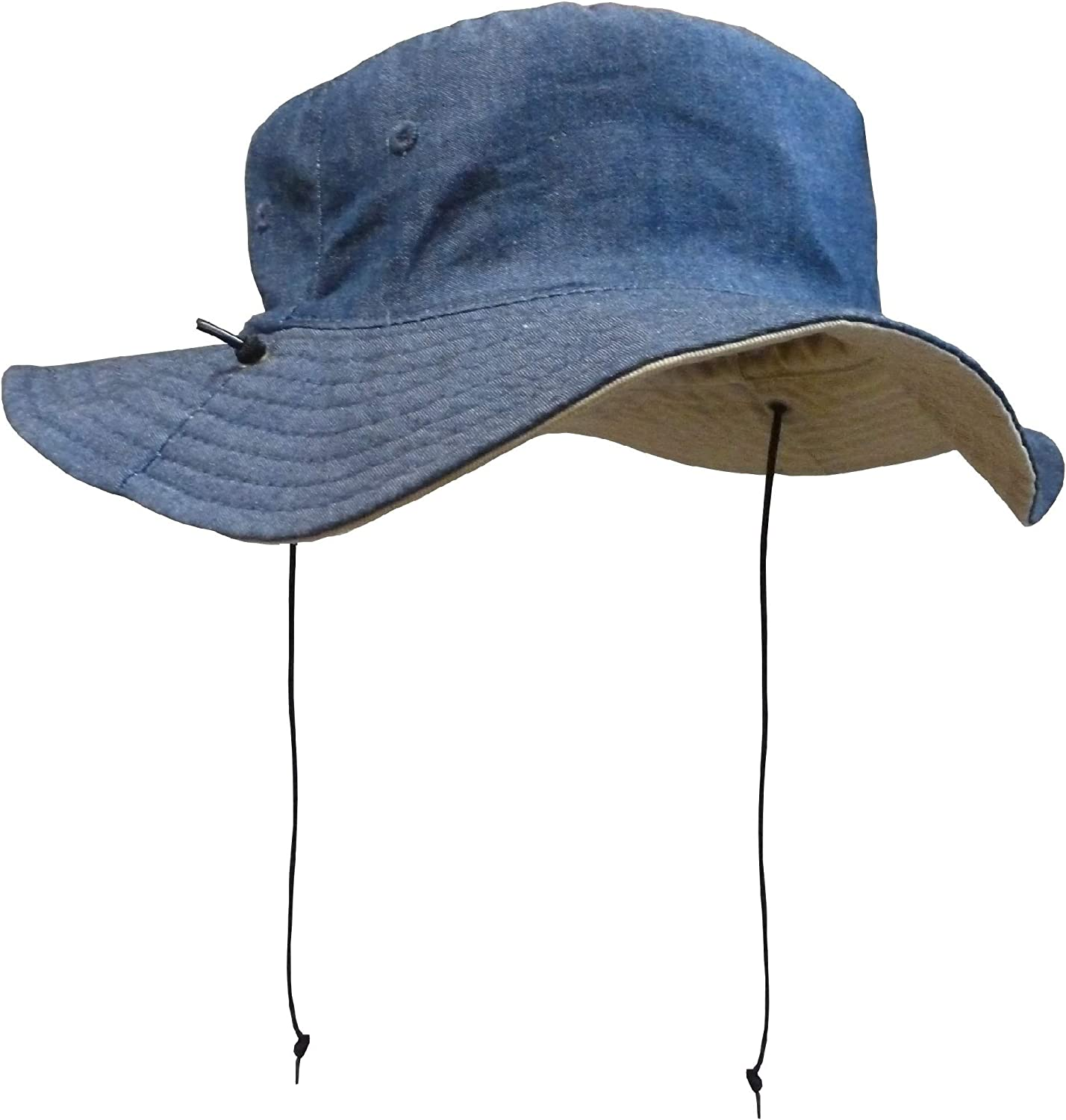 NIce Caps Kids Reversible Adjustable Cotton Twill Aussie Sun Protection Hat