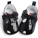 Voberry Toddler Baby Girls Boy's Sneaker Moccasins Anti-slip Soft Sole Bow Shoes