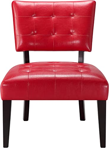 Ball Cast Accent Chair, Red