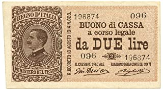 Cartamoneta.com 2 Lire Buono di Cassa EFFIGE Vittorio Emanuele III 28/12/1917 SUP