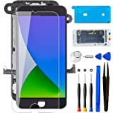 """Mobkitfp for iPhone 7 Screen Replacement Black W/Camera+Earpiece+Sensors Full Assembly 4.7"""" LCD Screen 3D Touch Display Digit"""