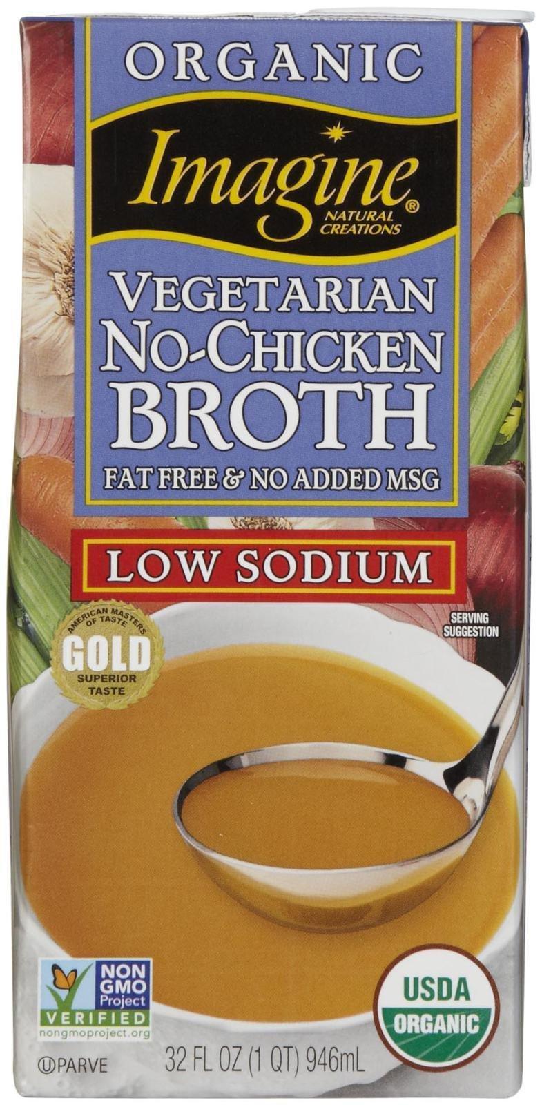 Imagine Organic No Chicken Broth, Low Sodium, 32 oz by Imagine