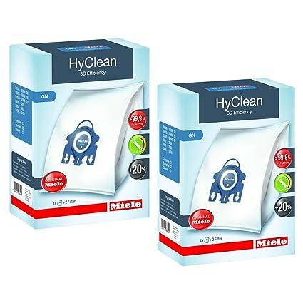 Bolsas recogepolvo para aspiradora GN Hyclean series C2 y C3 completas, originales de Miele,