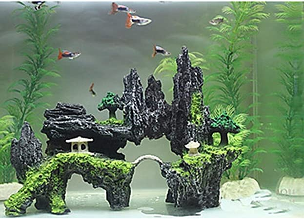 decorazione per acquario Corteccia Casa Decorazione per acquario in resina Gelentea