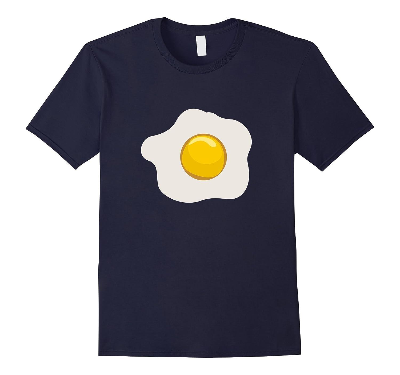 Sunny Side Up Egg Scrambled Fried Breakfast Emoji T-Shirt-T-Shirt