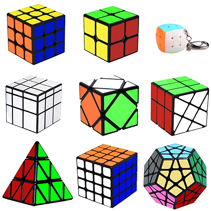 lunaoo Speed Cube Set Magic Cube 9 Piezas 2x2 3x3 4x4 ...