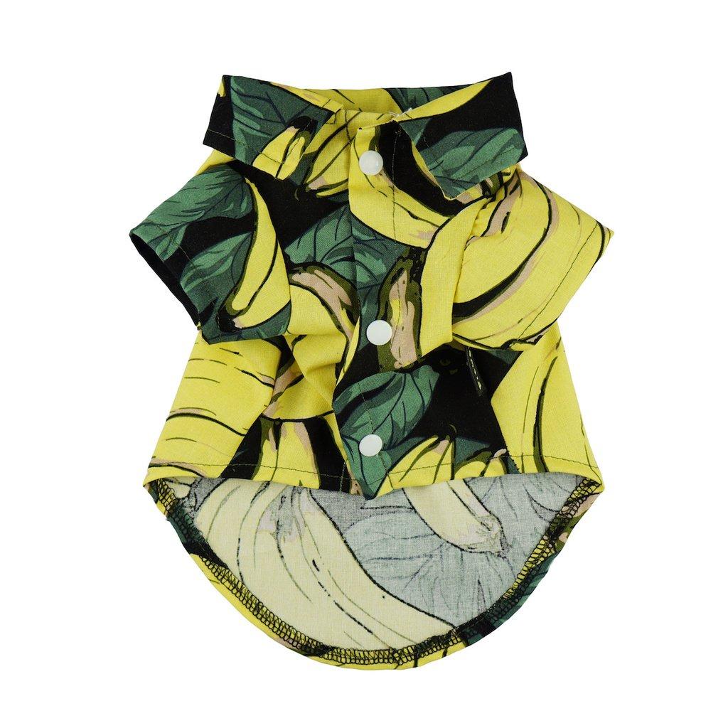 Fitwarm Banana Pet Clothes for Dog Shirts Cat Polo Apparel Yellow Medium