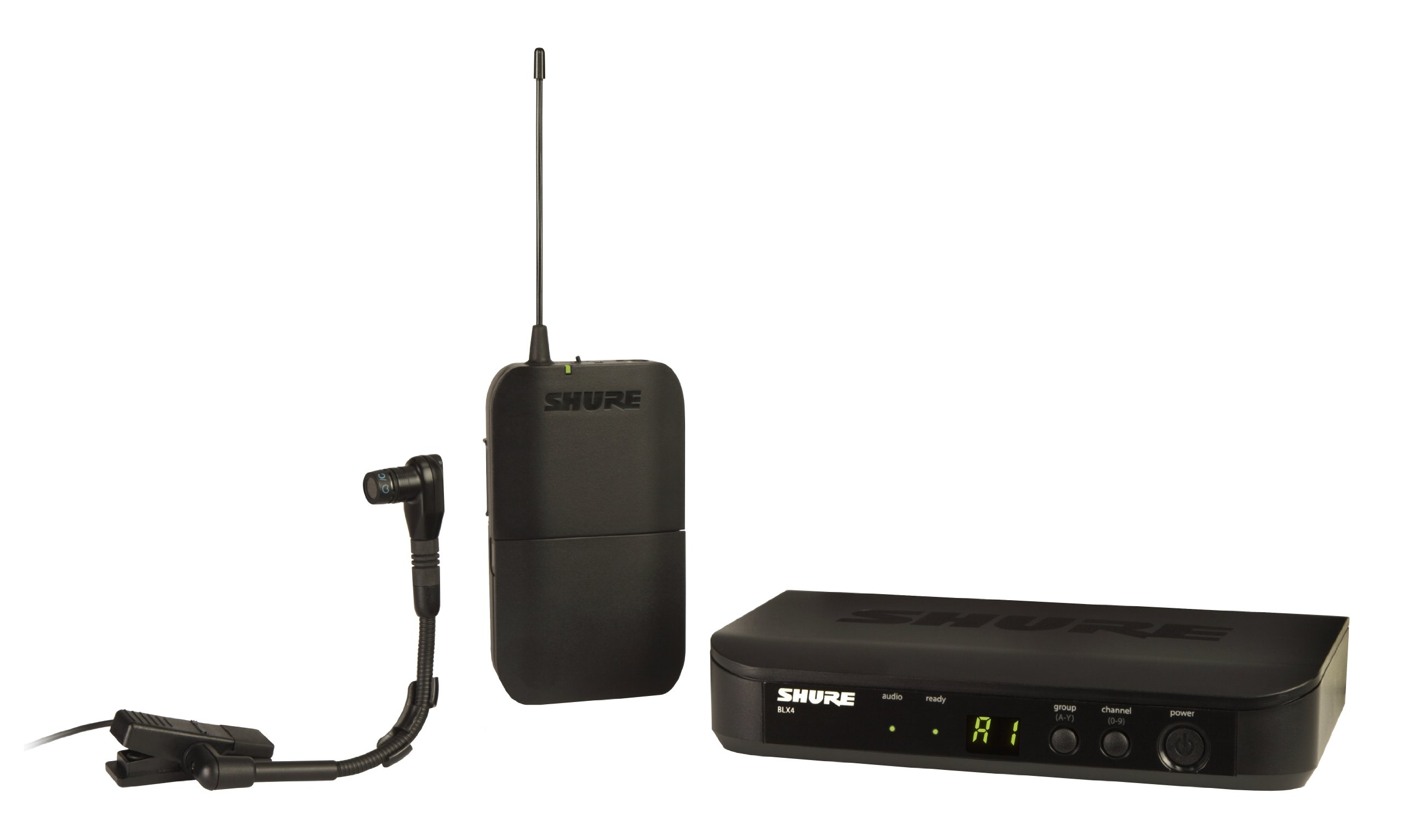 Shure BLX14/B98 Instrument Wireless System with BETA98H/C Clip-on Microphone, J10 by Shure