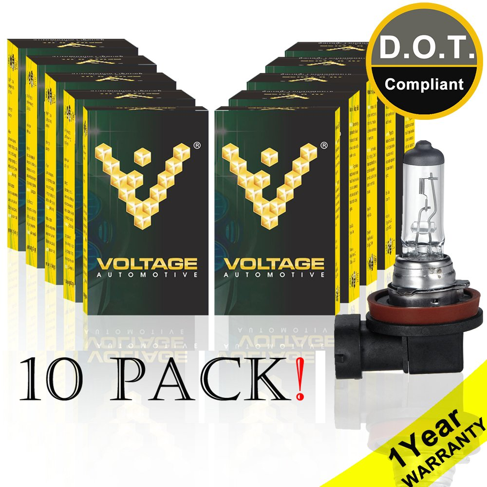Voltage Automotive 9007 HB5 Standard Headlight Bulb (10 Pack) - OEM Replacement Halogen High Beam Low Beam Fog Lights