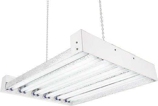 DUROLUX T5 HO INDOOR GROW LIGHT 2 FT 4 LAMPS DL824 FLUORESCENT HYDROPONIC VEG
