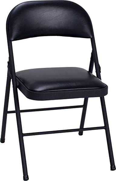 Cosco-Vinyl-Folding-Chair-Black
