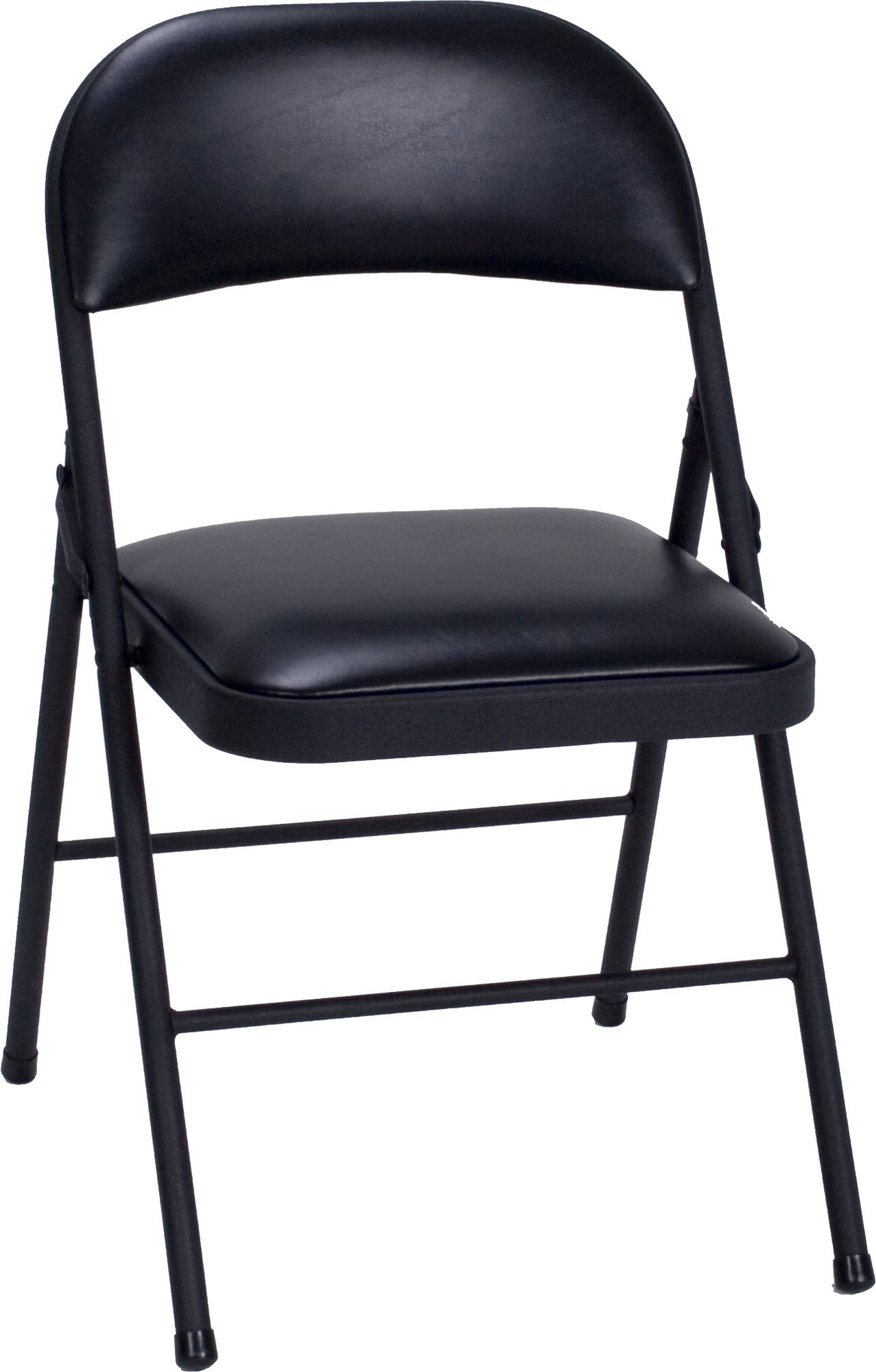 Cosco Vinyl 4-Pack Folding Chair, Black by Cosco