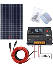ECO-WORTHY Kit de panneau solaire 120W 200W pour camping-car caravane (120W Kit de panneau solaire)