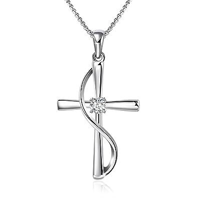 8b25f9dcd Angelady Cross Pendant Necklace for Women Wife Daughter Pendant Swarovski  Crystal Necklace Present Jewelry Girlfriend Girl