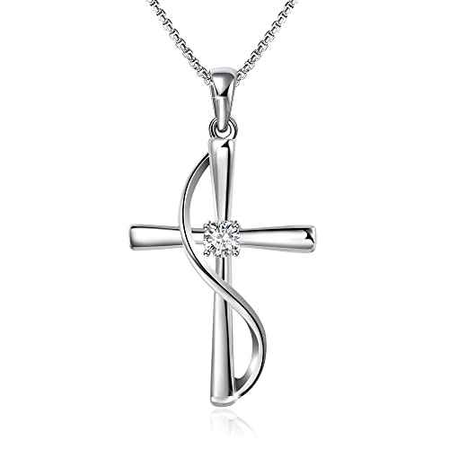 Angelady God In My Heart Faith Hope Love Cross Pendant Necklace Jewelry Valentine Birthday Gifts For