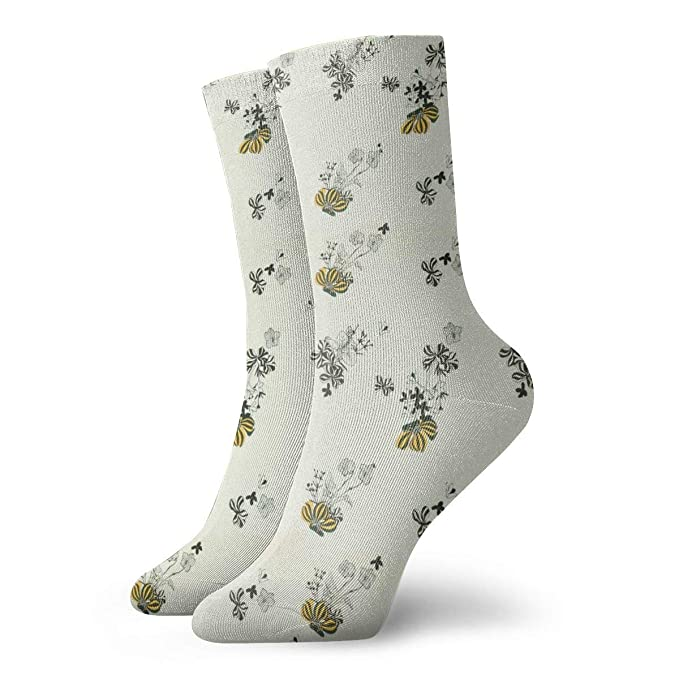 buying now new specials buy best Casual Crew Socks Blue & Yellow Vintage Floral Ankle Socks ...
