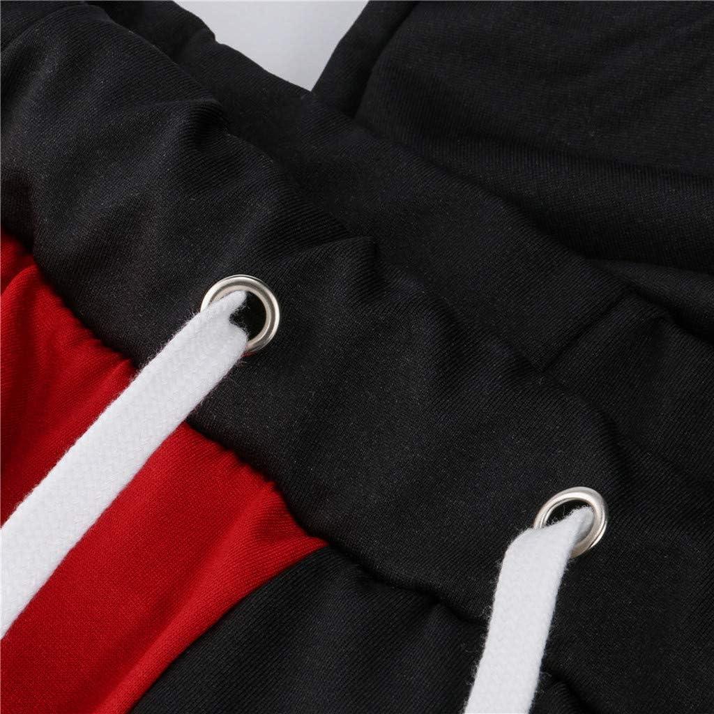 SMILEQ Pantalones para Hombre Bloques de Color Largos Bloques de ...