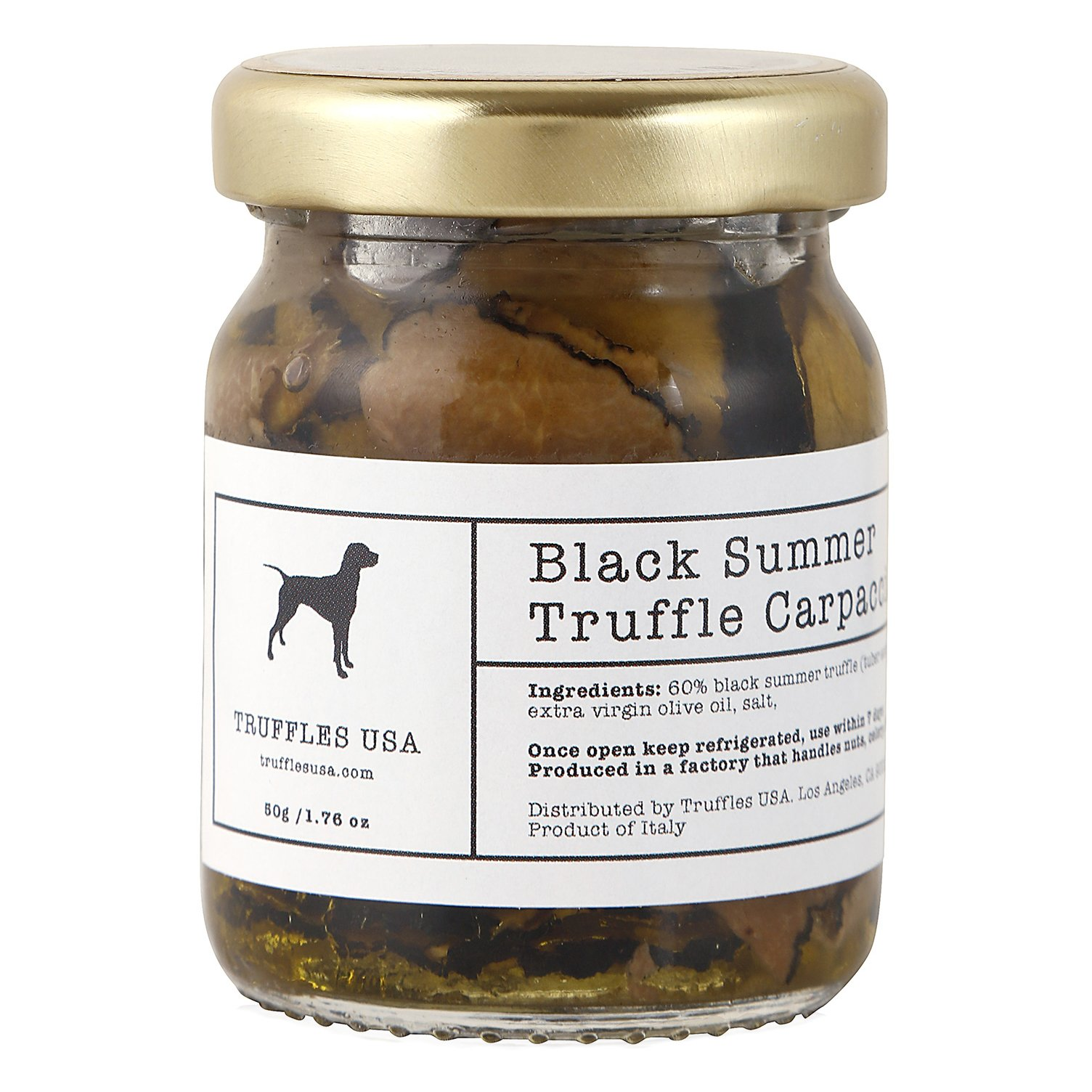 TRUFFLES USA Black Truffle Slices Carpaccio 1.76 oz - Imported from Italy - Specialty Truffle slices in Extra Virgin Olive Oil - Vegetarian - Gluten Free - Kosher