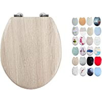 MSV Asiento WC, Madera, Gris, 42.5x36.5x3 cm