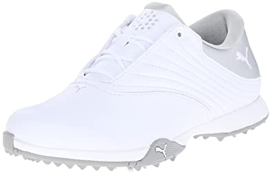 PUMA Golf Women's PG Blaze Disc Golf Shoe, White Silver, 10 Medium US