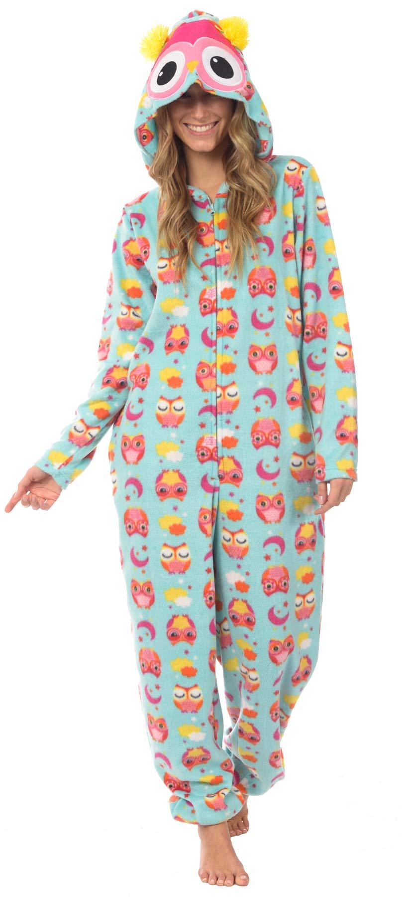 Body Candy Loungewear Ladies Onesie (Whooty, Small) by Body Candy Loungewear