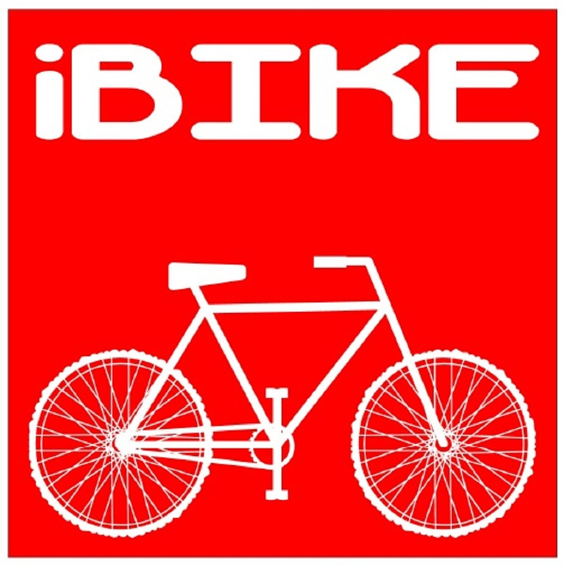 U s custom stickers ibike bicycle square sticker red 5 inch