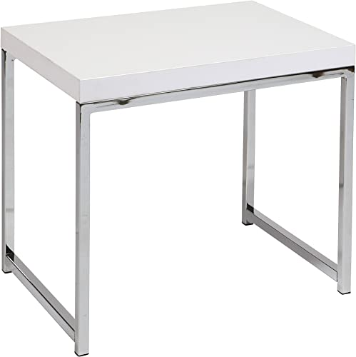 Work Smart Ave Six AVE SIX Wall Street End Table, White