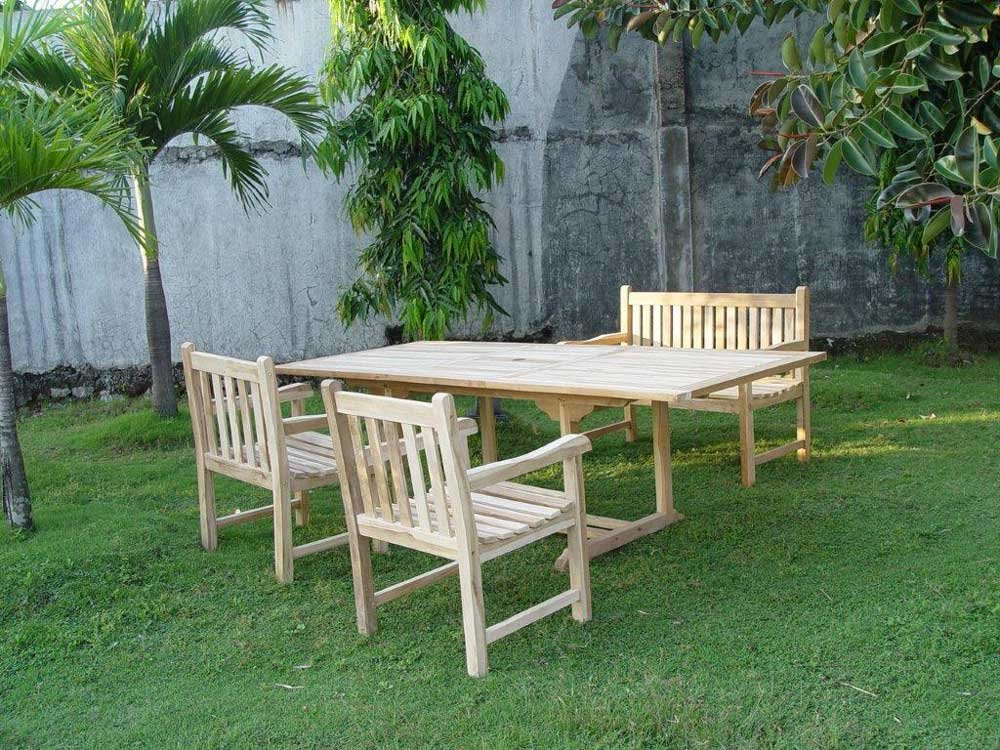 sam gartengruppe caracas 4 teilig gartenm bel aus teak holz mit 2 x garten sessel caracas. Black Bedroom Furniture Sets. Home Design Ideas
