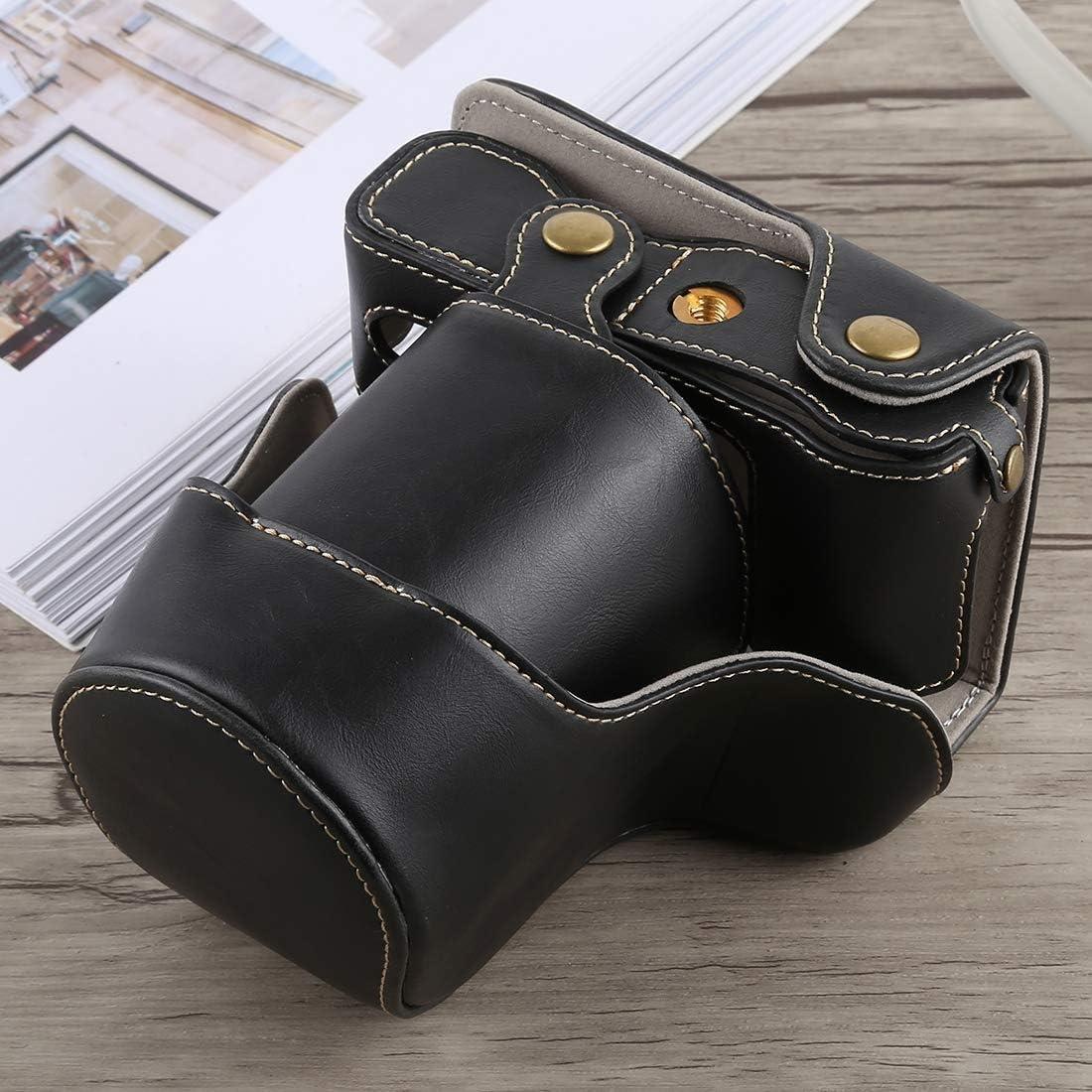 Xdashou Camera Bag Wuzpx Total Body Camera PU Leather Case Bag with Strap for Fujifilm X-A5 Black Color : Brown