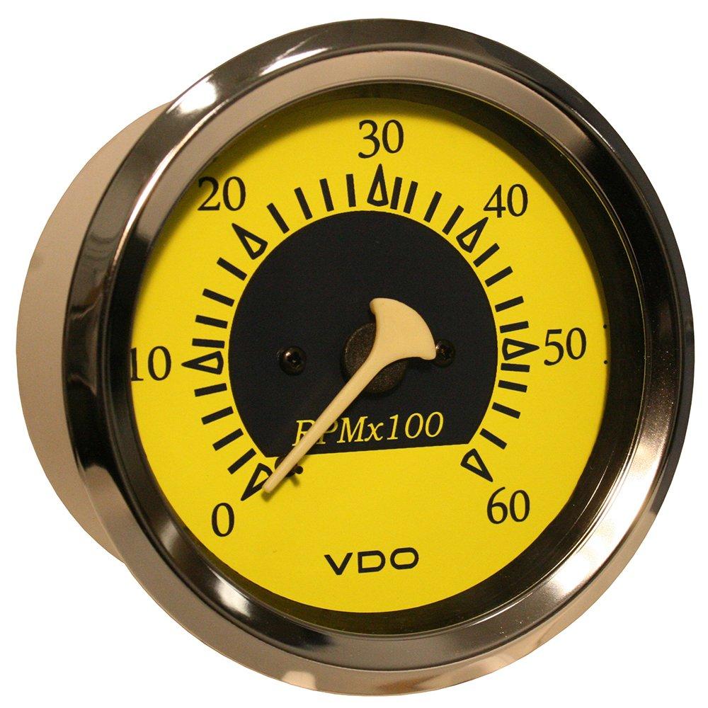 85mm VDO Allentare 6000RPM 3-3//8 12V Sterndrive Tachometer