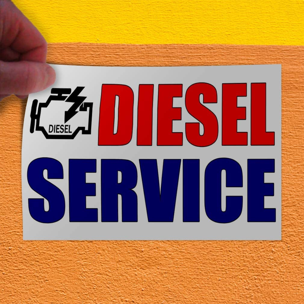 Set of 2 Decal Sticker Multiple Sizes Diesel Service Automotive Diesel Service Outdoor Store Sign Red 54inx36in