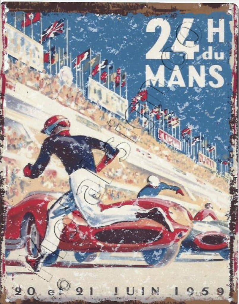 man cave 24 H Du Mans Retro metal Aluminium Sign vintage Garage
