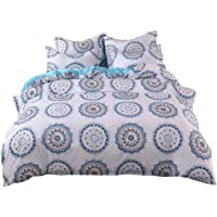 Karamoda-Home 3 Piece Quilt Set with Shams Bedding Ethnic Style Simple Plain Quilt Cover Pillowcase Without Sheets 3PCS Machine Washable Reversible Beach Theme Bedspread Coverlet