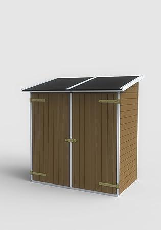 Superior Vogelhaus Box Gartenhaus Aus Holz Tannenholz Für Lerici Werkzeug Klasse  Farbe Walnuss Mit Tür Doppel 149