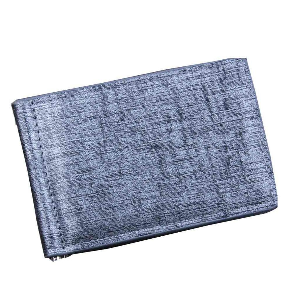 Man Wallet Small Leather Wallets Fashion Purse Gray for Gentlemen by TOPUNDER L