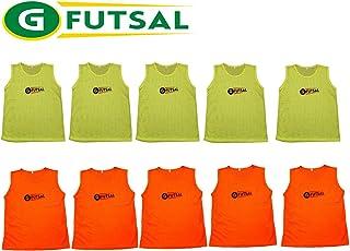 Gfutsal 10 dossards (5jaunes et 5 orange)