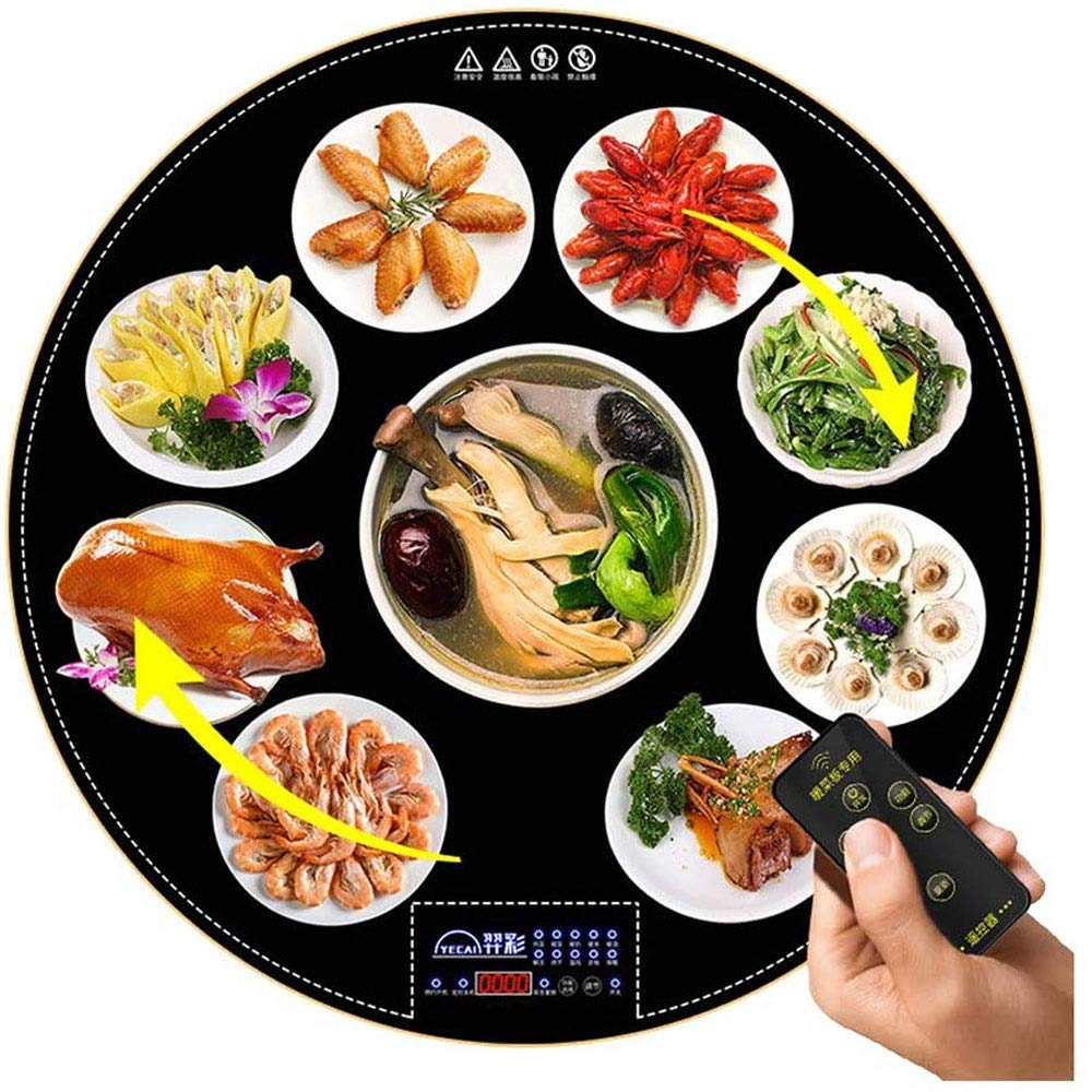 MYXMY Round Food Insulation Board Home Intelligent Hot Plate Warming Board Warm Vegetable Treasure Heating Plate Multi-Function Hot Dish Artifact by MYXMY