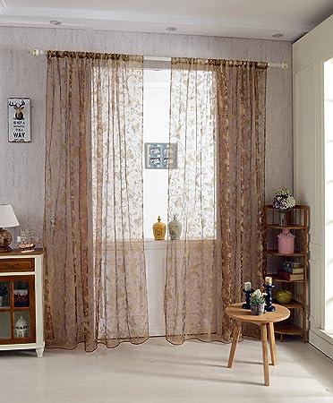 100 * 200cm Schmetterlingsfenster Voilevorhang Transparentem Tüll ...