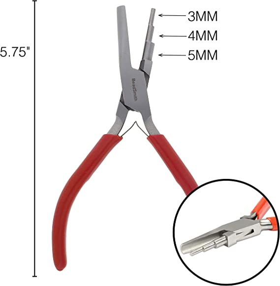Looping Pliers with Stepped Jaw and Flat Jaw by Eurotool PL7470