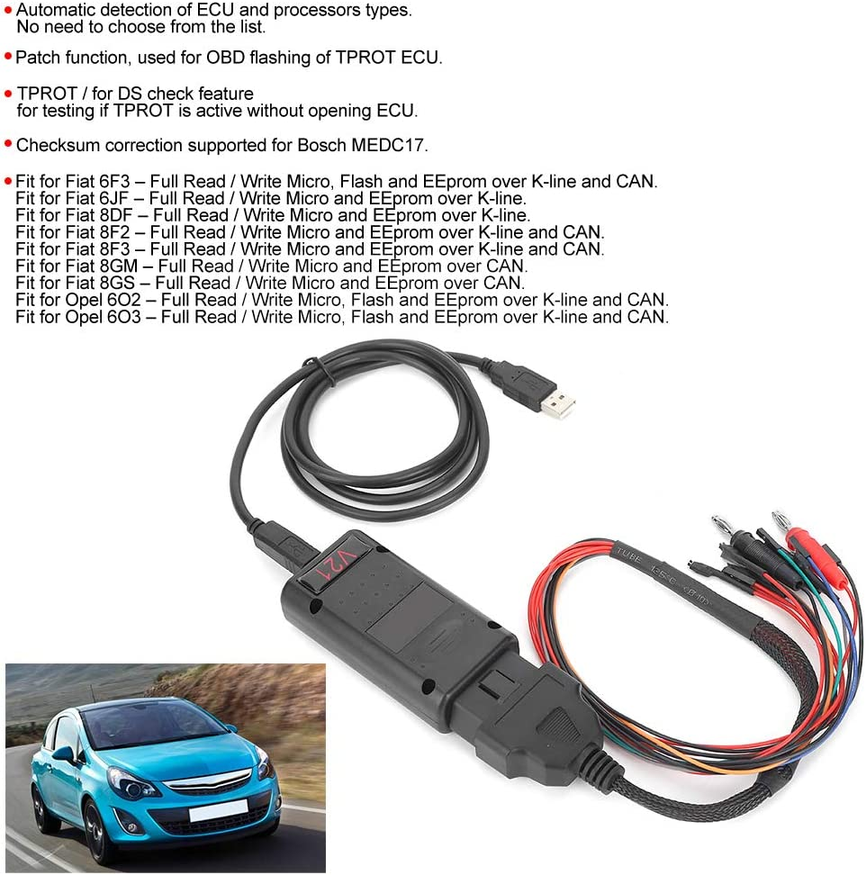 Chip de ajuste de coche m/ás reciente MPPS V21 principal Tricore Cable tricore de arranque m/últiple ECU Chip Tuning Scanner para diagn/óstico de coche