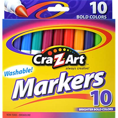 Cra-Z-Art Bold Washable Markers, 10 Count: Office Products