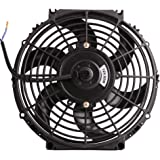 "10"" 12V Universal Electric Radiator Cooling Fan Push Pull Slim Mounting Kit 1750CFM (Diameter 10.75"" Depth 2.56"")"