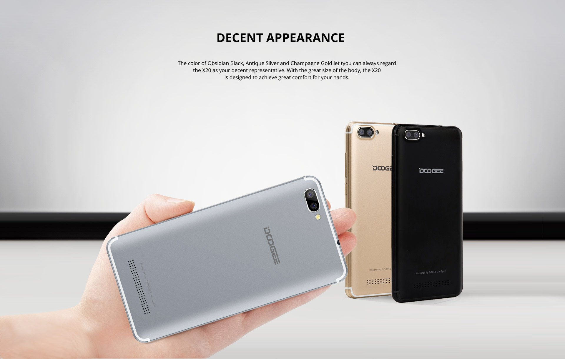 Unlocked Cell Phones, DOOGEE X20 GSM Smartphone Unlocked Android 7.0 - 5.0
