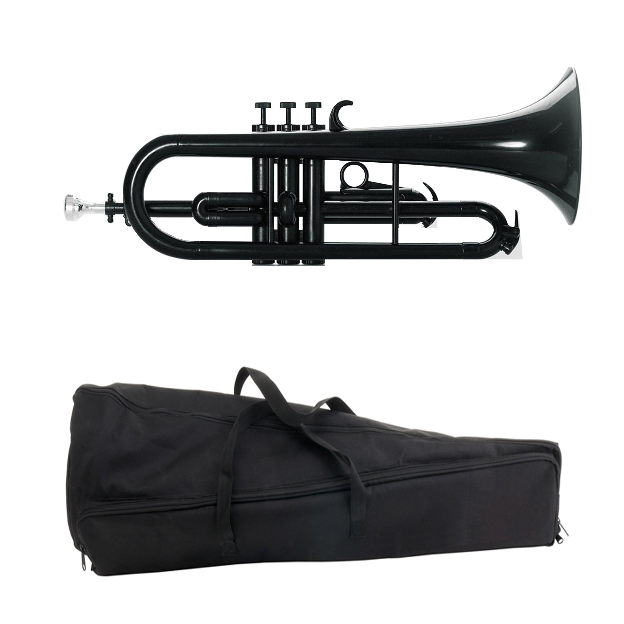 Estella PFG100BK Bb Plastic Flugelhorn, Black by Estella (Image #1)