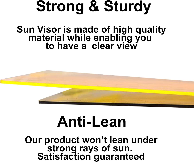 2019 Upgraded Car Goggles TNCY STORE Car Sun Visor Extender Anti-Glare Sun Blocker Day//Night Sunshade Extender Night Vision HD Anti-Dazzle Driving Visor Universal Size