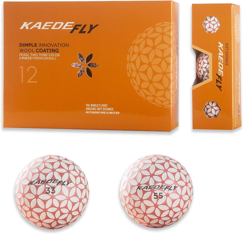 Amazon Com Kaede Fly Golf 2 Piece Mixed Colored Distance Golf Balls Pink One Dozen Sports Outdoors